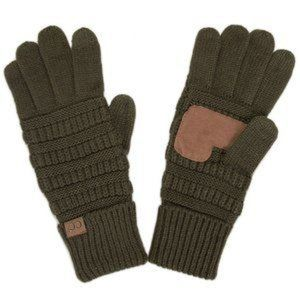 C.C Fleece Lined Thick Knit Touch Screen Glove